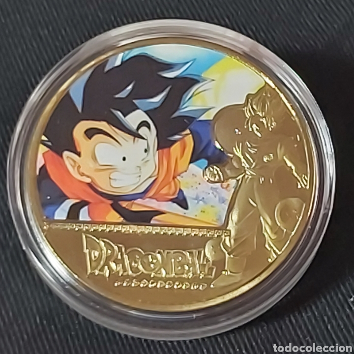 MONEDA DE METAL COLECCIÓN DRAGON BALL (Numismática - Medallería - Temática)
