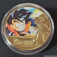 Medallas temáticas: MONEDA DE DRAGON BALL. COMPLETA TU COLECCIÓN. Lote 224482508