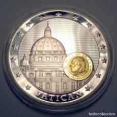 Medallas temáticas: MEDALLA VATICANO 10 AÑOS UNIÓN MONETARIA Y ECONÓMICA BU PROOF MEDAL 50MM 52G SILVER AN... Lote 209600726