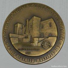 Medallas temáticas: MEDALLA DE LOS LIONS INTERNATIONAL, TORTOSA 1986, XIX CONVENCION NACIONAL DE CLUBES DE LEONES DE ESP. Lote 209791223