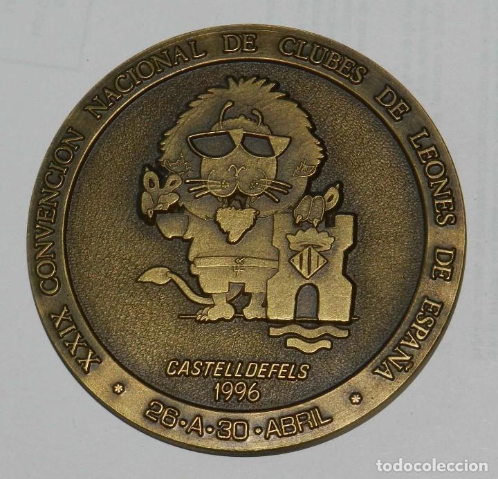 MEDALLA DE LOS LIONS INTERNATIONAL, CASTELLDEFELS 1996, XXIX CONVENCION NACIONAL DE CLUBES DE LEONES (Numismática - Medallería - Temática)