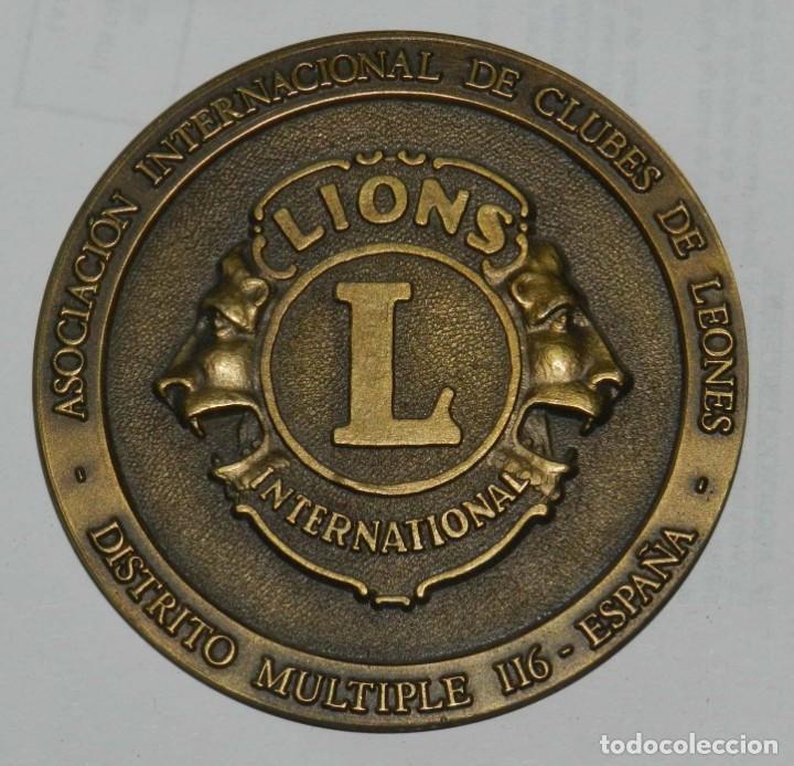 Medallas temáticas: MEDALLA DE LOS LIONS INTERNATIONAL, CASTELLDEFELS 1996, XXIX CONVENCION NACIONAL DE CLUBES DE LEONES - Foto 2 - 209791502