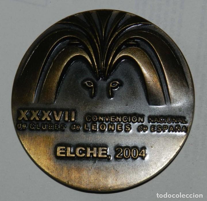Medallas temáticas: MEDALLA DE LOS LIONS INTERNATIONAL, ELCHE MAYO 2004, XXXVII CONVENCION NACIONAL DE CLUBES DE LEONES - Foto 2 - 209792368