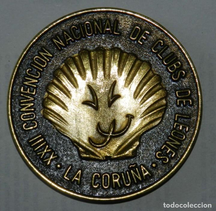 Medallas temáticas: MEDALLA DE LOS LIONS INTERNATIONAL, 25 ANIVERSARIO 1990, LEONISIMO ESPAÑOL, XXIII CONVENCION NACIONA - Foto 2 - 209792591