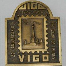 Medallas temáticas: MEDALLA DE LOS LIONS INTERNATIONAL, XXVII CONVENCION, DISTRITO MULTIPLE 116. ESPAÑA, VIGO 22 ANIVERS. Lote 209794528