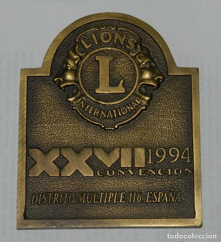 Medallas temáticas: MEDALLA DE LOS LIONS INTERNATIONAL, XXVII CONVENCION, DISTRITO MULTIPLE 116. ESPAÑA, VIGO 22 ANIVERS - Foto 2 - 209794528