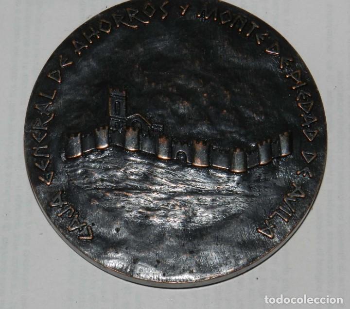 Medallas temáticas: MEDALLA DE LA CAJA GENERAL DE AHORROS Y MONTE DE PIEDAD DE ÁVILA IV CENTENARIO 1582-1982 COBRE, MIDE - Foto 2 - 209795741