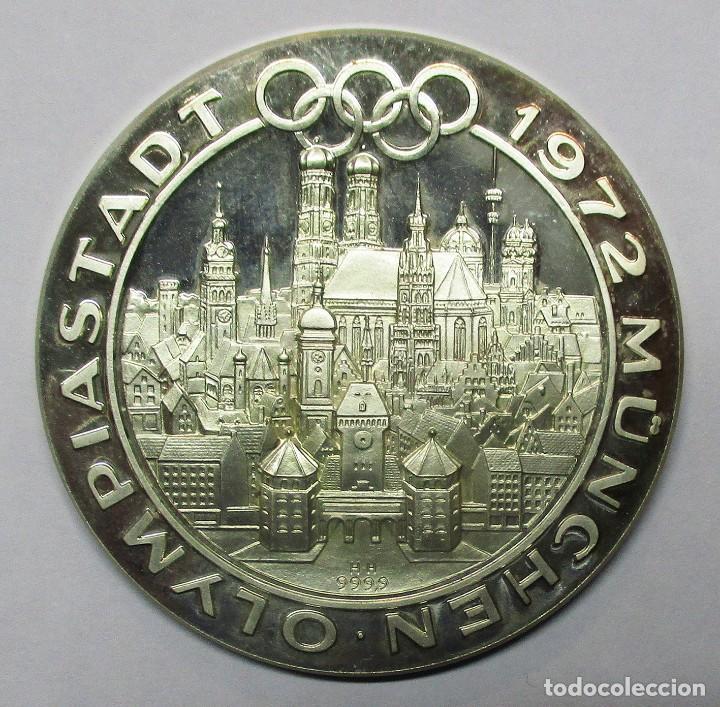 Medallas temáticas: ALEMANIA. OLIMPIADAS DE MUNICH 1972. PRECIOSA MEDALLA DE PLATA PURA 999,9 . LOTE 0118 - Foto 2 - 209908522