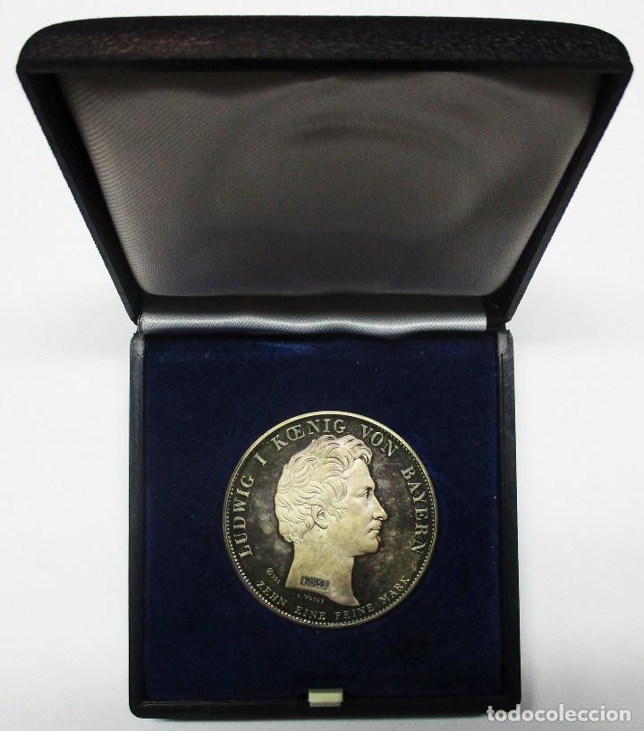 ALEMANIA (BAVIERA). PRECIOSA REACUÑACIÓN DEL THALER DE 1835 DE LUDWIG I, REY DE BAVIERA. LOTE 3182 (Numismática - Medallería - Temática)
