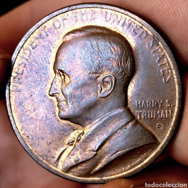 H18. MUY ESCASA. EEUU. MEDALLA H. TRUMAN 1949 SC. 17,9G / 33MM (Numismática - Medallería - Temática)