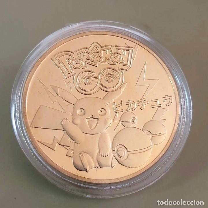 Medallas temáticas: MONEDA DE COLECCIÓN POKEMON. COMPLETA TU COLECCIÓN. - Foto 2 - 210062551