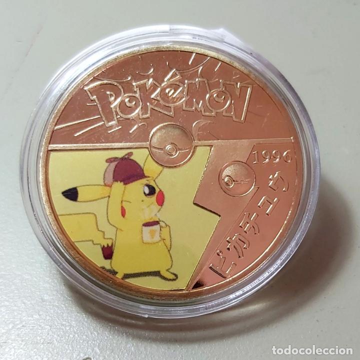 MONEDA DE COLECCIÓN POKEMON. COMPLETA TU COLECCIÓN. (Numismática - Medallería - Temática)