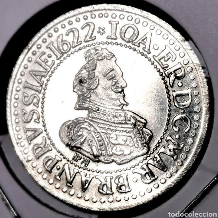 D01. BAÑO DE PLATA. MEDALLA PRUSIA 1622. 2,7G / 20,5MM (Numismática - Medallería - Temática)