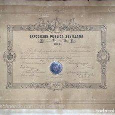 Medallas temáticas: EXPOSICION PUBLICA SEVILLANA. SEVILLA, 1858. MEDALLA DE PLATA. D. MANUEL GROSSO. VER FOTOS. Lote 210193615