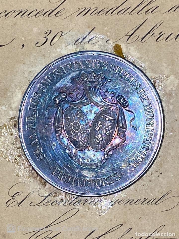 Medallas temáticas: EXPOSICION PUBLICA SEVILLANA. SEVILLA, 1858. MEDALLA DE PLATA. D. MANUEL GROSSO. VER FOTOS - Foto 2 - 210193615