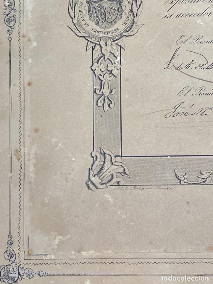 Medallas temáticas: EXPOSICION PUBLICA SEVILLANA. SEVILLA, 1858. MEDALLA DE PLATA. D. MANUEL GROSSO. VER FOTOS - Foto 6 - 210193615