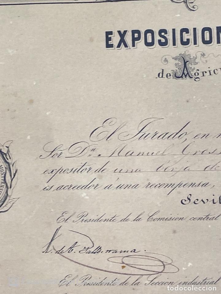 Medallas temáticas: EXPOSICION PUBLICA SEVILLANA. SEVILLA, 1858. MEDALLA DE PLATA. D. MANUEL GROSSO. VER FOTOS - Foto 8 - 210193615