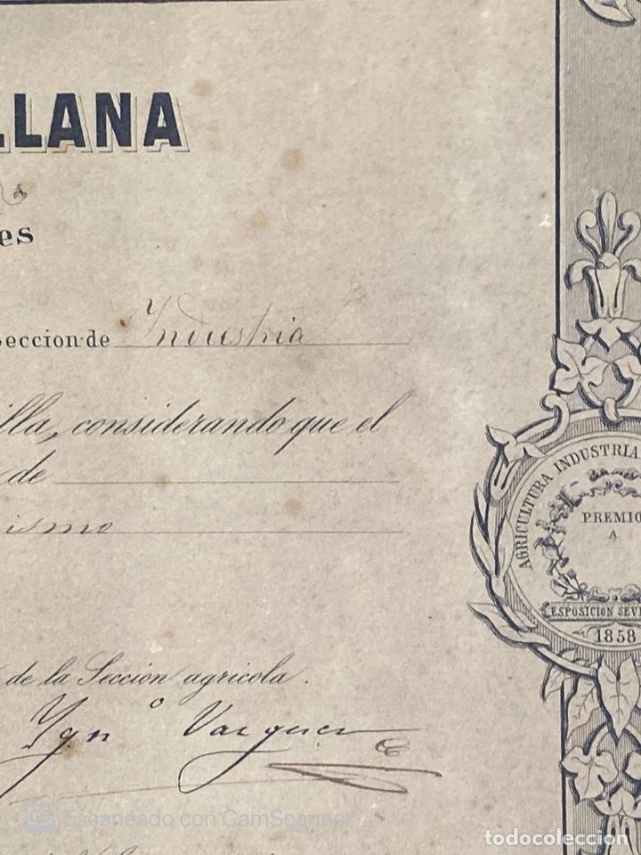 Medallas temáticas: EXPOSICION PUBLICA SEVILLANA. SEVILLA, 1858. MEDALLA DE PLATA. D. MANUEL GROSSO. VER FOTOS - Foto 11 - 210193615