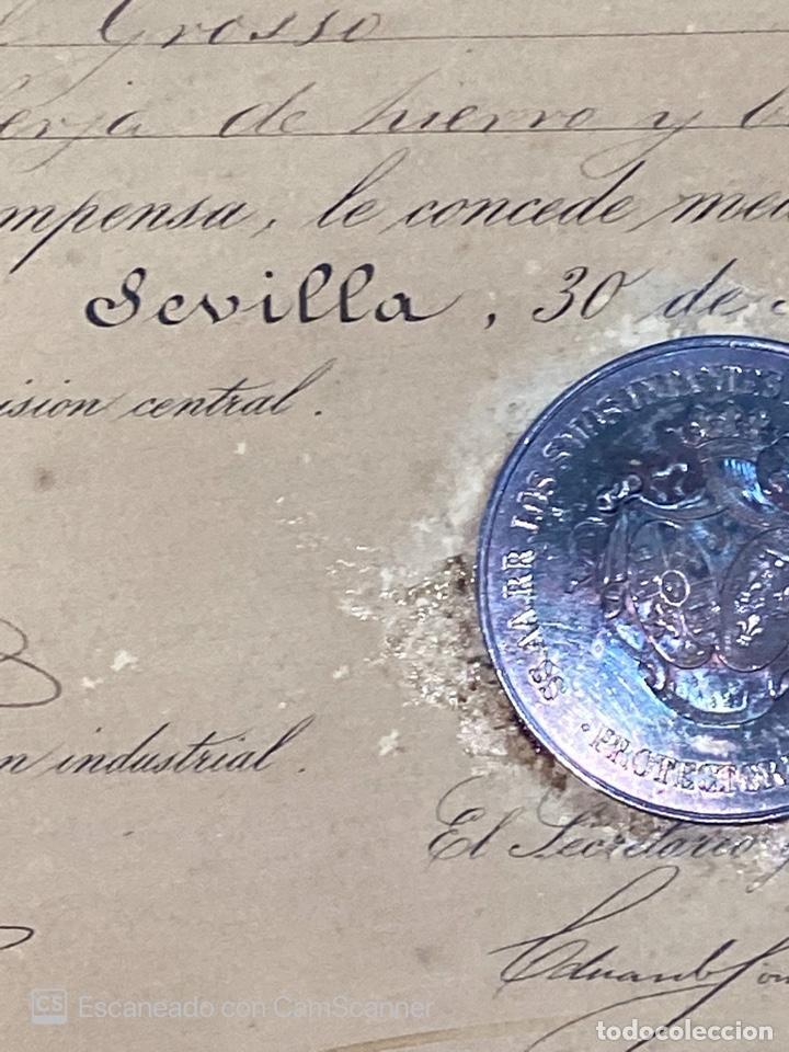 Medallas temáticas: EXPOSICION PUBLICA SEVILLANA. SEVILLA, 1858. MEDALLA DE PLATA. D. MANUEL GROSSO. VER FOTOS - Foto 14 - 210193615