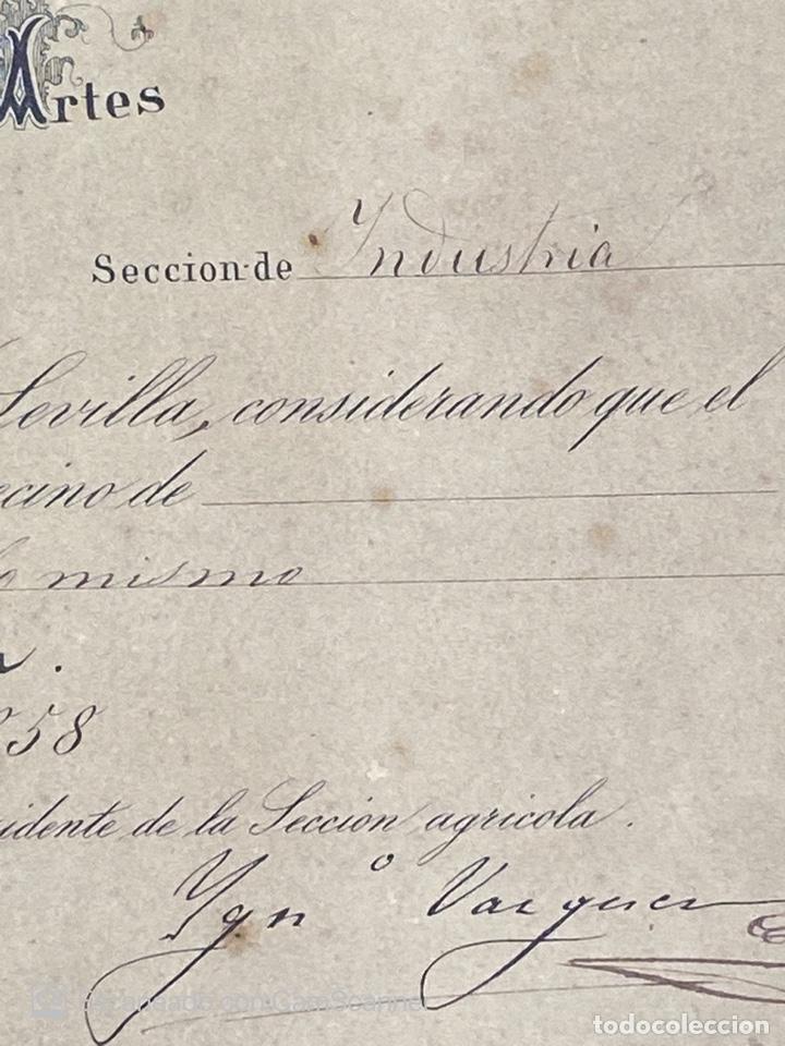 Medallas temáticas: EXPOSICION PUBLICA SEVILLANA. SEVILLA, 1858. MEDALLA DE PLATA. D. MANUEL GROSSO. VER FOTOS - Foto 16 - 210193615