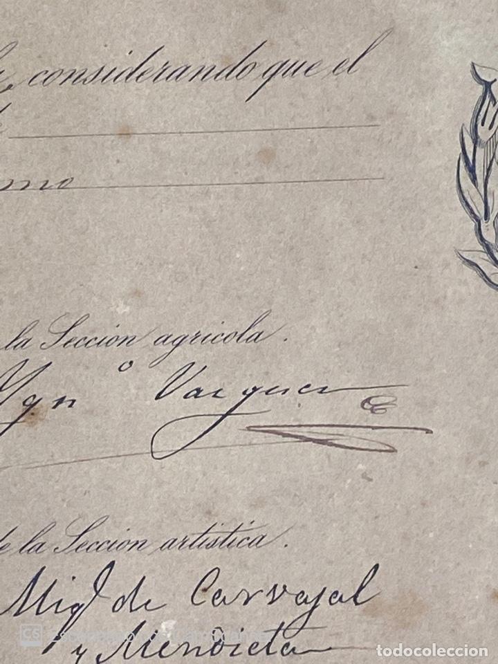 Medallas temáticas: EXPOSICION PUBLICA SEVILLANA. SEVILLA, 1858. MEDALLA DE PLATA. D. MANUEL GROSSO. VER FOTOS - Foto 17 - 210193615