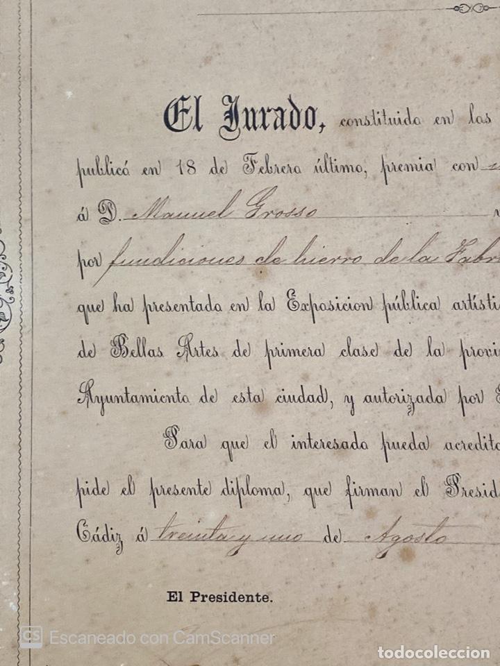 Medallas temáticas: EXPOSICIÓN PÚBLICA ARTÍSTICA E INDUSTRIAL. CADIZ, 1862. MEDALLA A D. MANUEL GROSSO. VER FOTOS - Foto 6 - 210194257