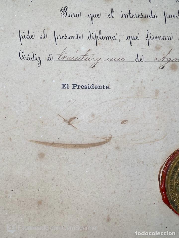Medallas temáticas: EXPOSICIÓN PÚBLICA ARTÍSTICA E INDUSTRIAL. CADIZ, 1862. MEDALLA A D. MANUEL GROSSO. VER FOTOS - Foto 9 - 210194257