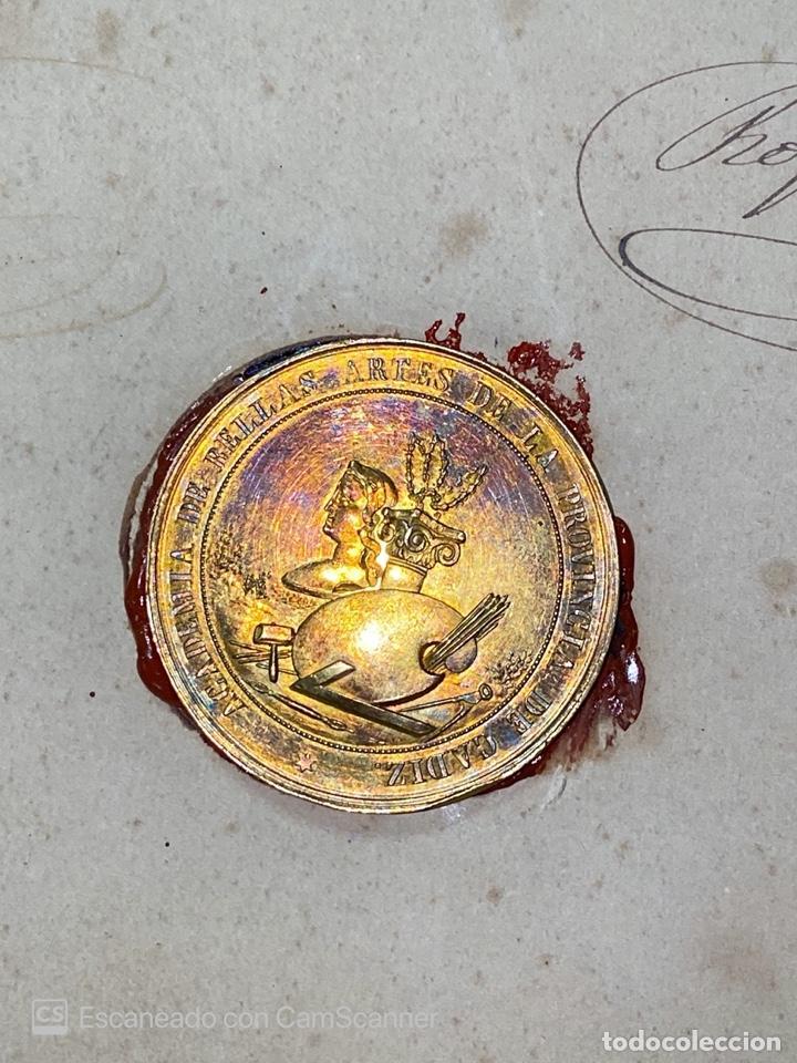Medallas temáticas: EXPOSICIÓN PÚBLICA ARTÍSTICA E INDUSTRIAL. CADIZ, 1862. MEDALLA A D. MANUEL GROSSO. VER FOTOS - Foto 11 - 210194257