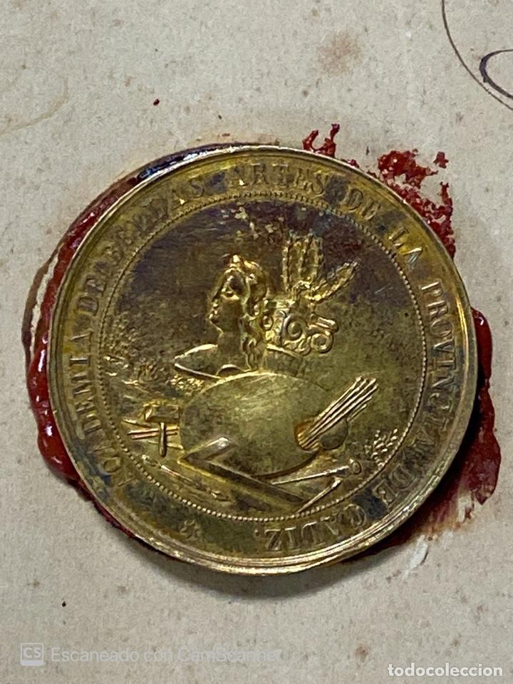 Medallas temáticas: EXPOSICIÓN PÚBLICA ARTÍSTICA E INDUSTRIAL. CADIZ, 1862. MEDALLA A D. MANUEL GROSSO. VER FOTOS - Foto 12 - 210194257