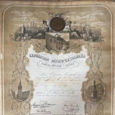 Medallas temáticas: EXPOSICION BÉTICO EXTREMEÑA. MEDALLA A D. MANUEL GROSSO. SEVILLA, 1874. VER FOTOS. Lote 210196035