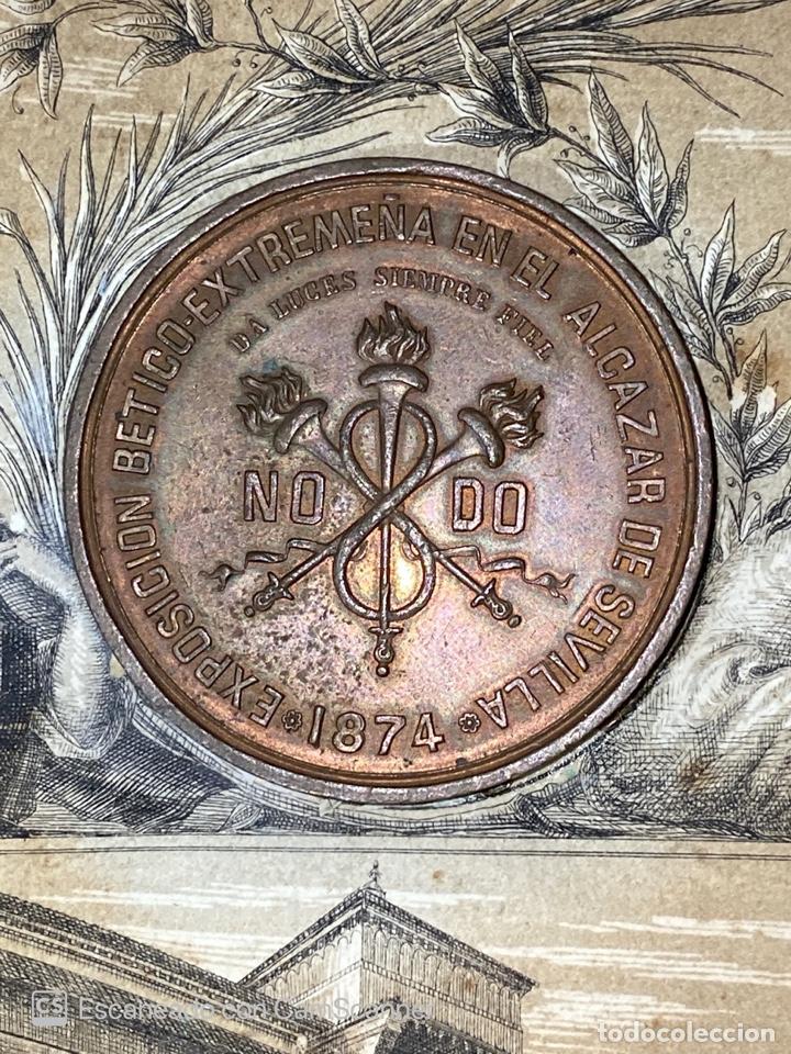 Medallas temáticas: EXPOSICION BÉTICO EXTREMEÑA. MEDALLA A D. MANUEL GROSSO. SEVILLA, 1874. VER FOTOS - Foto 2 - 210196035