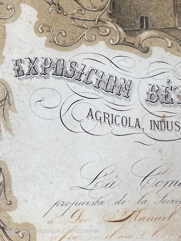 Medallas temáticas: EXPOSICION BÉTICO EXTREMEÑA. MEDALLA A D. MANUEL GROSSO. SEVILLA, 1874. VER FOTOS - Foto 5 - 210196035