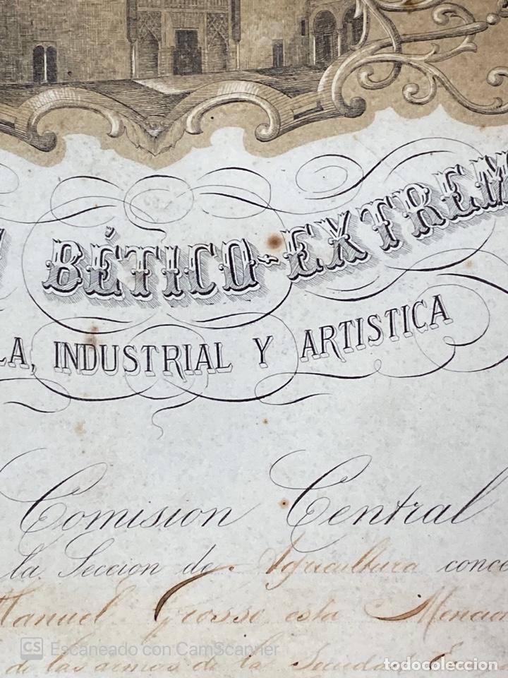 Medallas temáticas: EXPOSICION BÉTICO EXTREMEÑA. MEDALLA A D. MANUEL GROSSO. SEVILLA, 1874. VER FOTOS - Foto 6 - 210196035