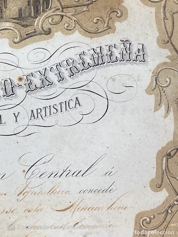 Medallas temáticas: EXPOSICION BÉTICO EXTREMEÑA. MEDALLA A D. MANUEL GROSSO. SEVILLA, 1874. VER FOTOS - Foto 7 - 210196035