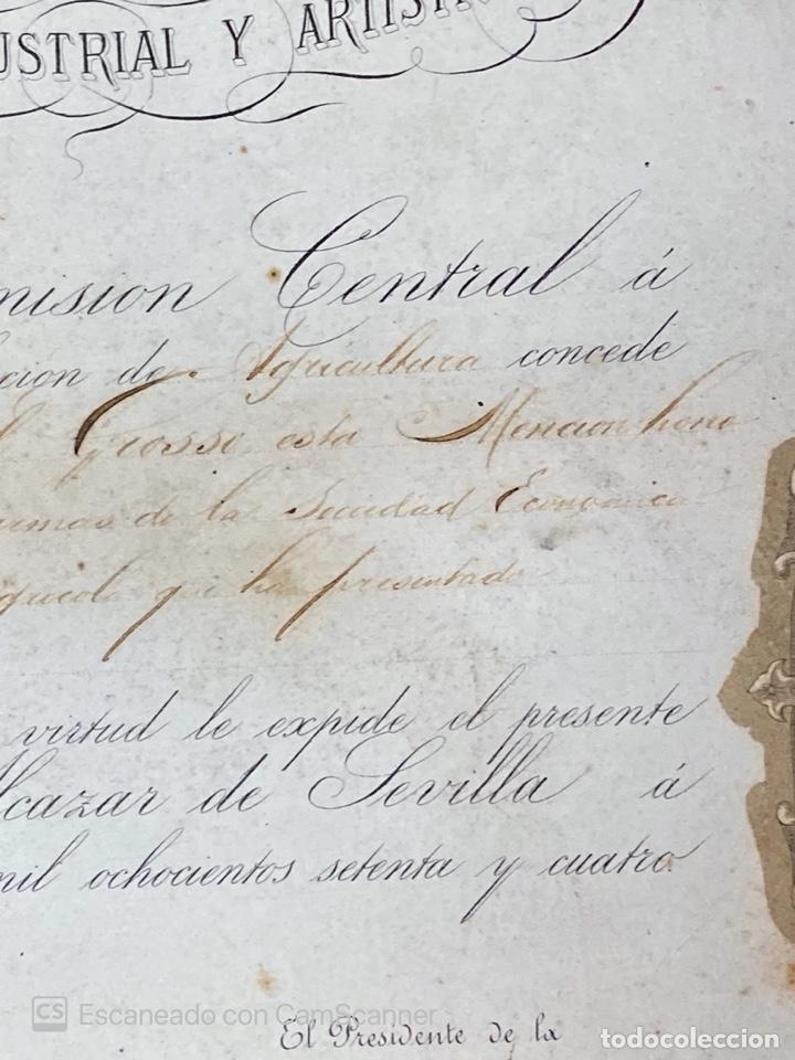 Medallas temáticas: EXPOSICION BÉTICO EXTREMEÑA. MEDALLA A D. MANUEL GROSSO. SEVILLA, 1874. VER FOTOS - Foto 9 - 210196035