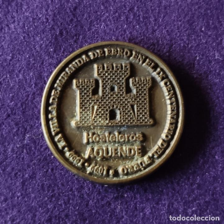 Medallas temáticas: FICHA MONEDA DEL X CENTENARIO DEL FUERO. 1 MARAVEDI. 1999. MIRANDA DE EBRO. HOSTELEROS ALLENDE. - Foto 2 - 210941405