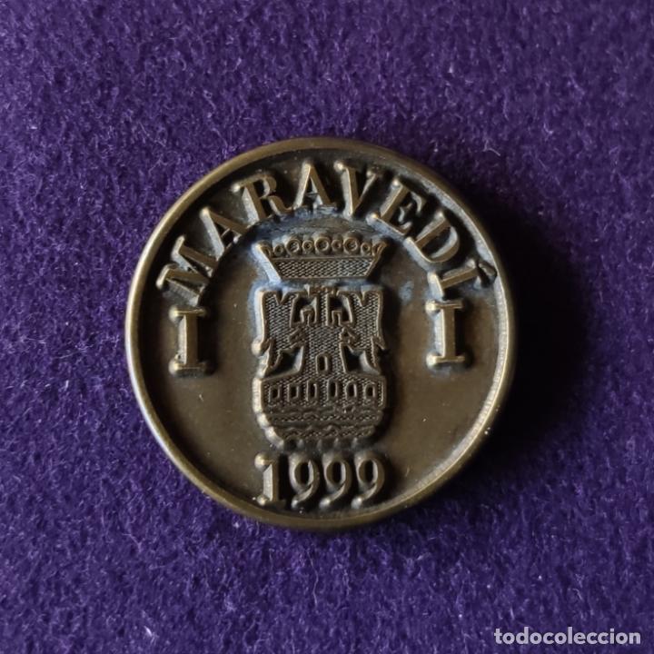 FICHA MONEDA DEL X CENTENARIO DEL FUERO. 1 MARAVEDI. 1999. MIRANDA DE EBRO. HOSTELEROS ALLENDE. (Numismática - Medallería - Temática)