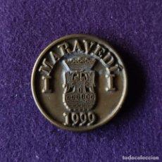 Medallas temáticas: FICHA MONEDA DEL X CENTENARIO DEL FUERO. 1 MARAVEDI. 1999. MIRANDA DE EBRO. HOSTELEROS ALLENDE.. Lote 210941405