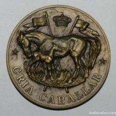 Medallas temáticas: MEDALLA DE MILITAR, CRIA CABALLAR, MIDE 7,5 CMS DE DIAMETRO. REALIZADA EN BRONCE.. Lote 210954056
