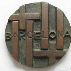 Medallas temáticas: MEDALLA BARCELONA , FIRMADO POR SUBIRACHS . 315 GRAMOS/78 MM. Lote 210954539