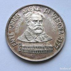 Medallas temáticas: MEDALLA BONO 10.000 LIRAS - ENTE LÍRICO ARENA DE VERONA - 1977 - PLATA 800 (CONTRASTES) - O/ 4 CMS.. Lote 210981152