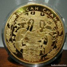 Medallas temáticas: MUY BONITA MONEDA MEDALLON XXL DEL ARBOL DE LA VIDA WACAH CHAN DE LA CULTURA MAYA. Lote 211406261