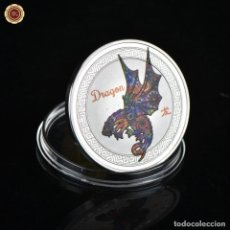 Medallas temáticas: MONEDA DE COLECCION - AÑO DEL DRAGON - ZODIACO LUNAR CHINO - AMULETO - SUERTE. Lote 211559462