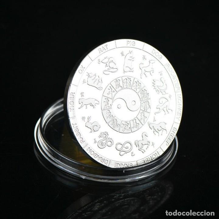 Medallas temáticas: MONEDA DE COLECCION - AÑO DEL DRAGON - ZODIACO LUNAR CHINO - AMULETO - SUERTE - Foto 2 - 211559462