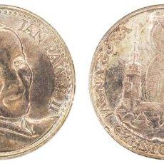Medallas temáticas: S.F. PAPA JUAN PABLO II. 24GR. PLATA. Ø3.6CM. Lote 211574792