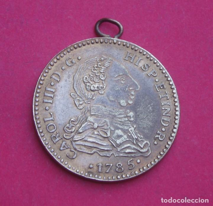 Medallas temáticas: Medalla o Moneda Carlos III Año 1785 - Foto 2 - 211614455