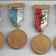 Medallas temáticas: COLECCION DE ANTIGUAS MEDALLAS DE CAMPEONATO DE BAILE CAMPEONES Y PRIMEROS PREMIOS 1952/53. Lote 211771057