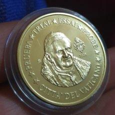 Medallas temáticas: MEDALLA PRUEBA ¡ 50 CÉNTIMOS EL VATICANO PROOFF. Lote 211938036