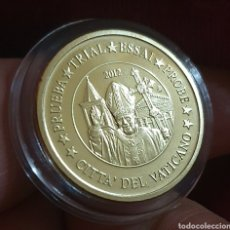 Medallas temáticas: MEDALLA PRUEBA, DE 10 CÉNTIMOS EL VATICANO. ESPÉCIMEN ¡ ACABADO PROOF. Lote 211938070
