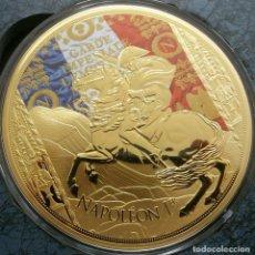 Medallas temáticas: GRAN MEDALLON XXXL DE NAPOLEON BONAPARTE EDICION MUY LIMITADA CON SU CERTIFICADO. Lote 212626811